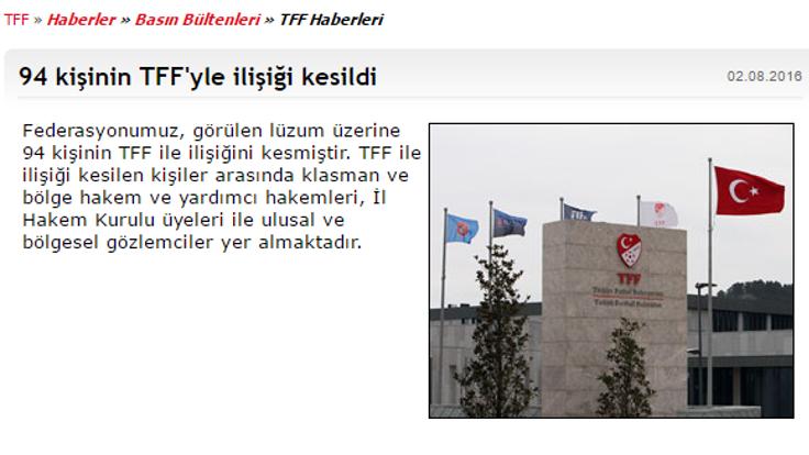 turkiye futbol federasyonu aciklama