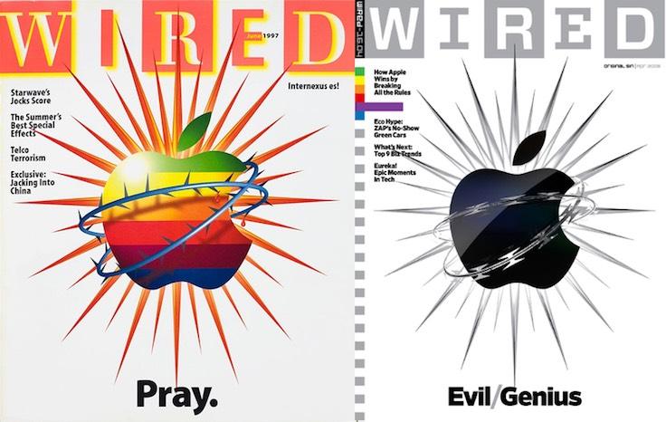 Wired, Apple'ı 10 yıl arayla kapağına böyle taşımıştı.