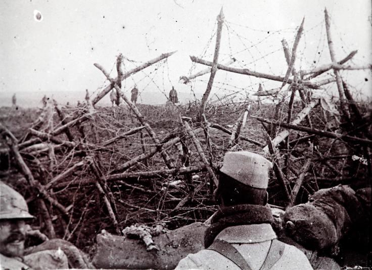 Birinci Dünya Savaş'nda cepheden bir görüntü.