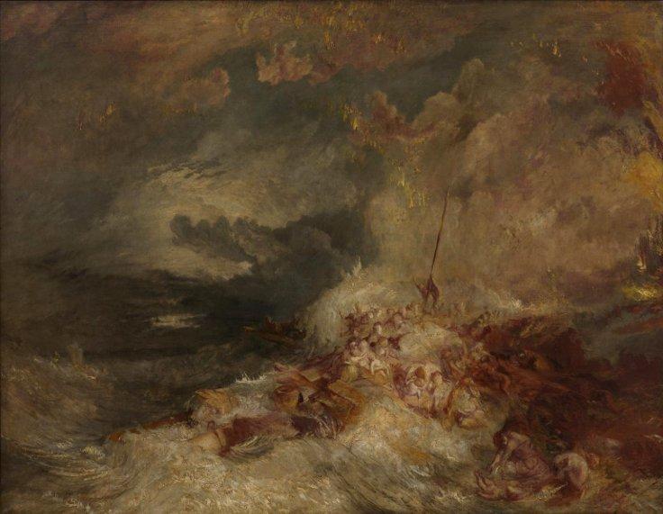 """William Turner, """"Deniz Kazası"""""""