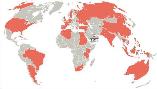 Katar küresel yatırım haritası