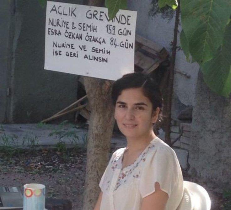 Esra Özakça, açlık grevini evinde sürdürüyor. FOTOĞRAF: Bianet