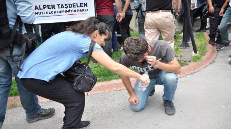 Polis eylemcilere biber gazıyla müdahale etti.